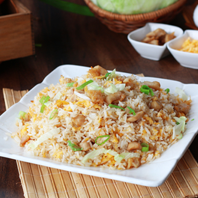 Diced Chicken w Salted Fish Fried Rice